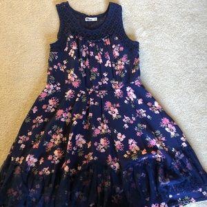 Epic Threads girls sleeveless navy dress size XL